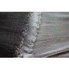 Pleated Lame - Metallic Silver