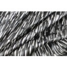 Printed Silk Satin - Paint Streaks - Black/White