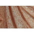Overlapping Micro Sequin On Silk Chiffon - Peach