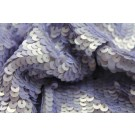 Overlapping Sequin On Silk Chiffon - Lilac