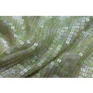 Small Square Sequin on Silk Chiffon - Pastel green