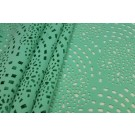 Perforated Scuba Jersey - Laser Cut Snowflake - Mint