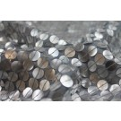 "Pale Grey ""Mother-of-pearl"" Style Sequin On Silk Chiffon"