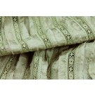 SALE - Lightweight Silk and Lace Stripe - Sage Green