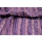 SALE - Lightweight Silk and Lace Stripe - Purple