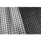 Double Sided Perforated Soft Leatherette - Silver/Black