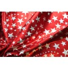 Star Pattern Metallic Foiled Lycra - Red