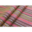 Striped Brocade - Pink Mauve & Orange