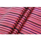 Striped Brocade - Red Pink & Black