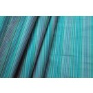 Multi Striped Silk Dupion - Turquoise