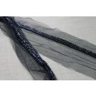 Black Beaded Trim - Narrow