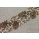 Metallic Embroidery Trim - Floral Gold, Copper & Brown