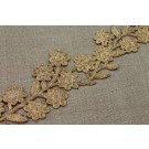 Metallic Flower Embroidery Trim in Gold Thread
