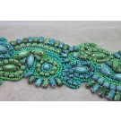 New Beaded Jewel Trim in Green and Turquoise
