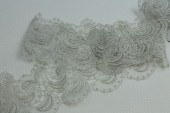 "Silver Ivory ""Paisley Swirl"" Guipure Lace Trim"