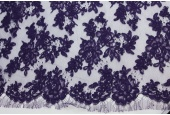 Purple Corded Lace
