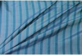 Wide Striped Silk Dupion - Blue