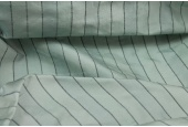 Wide Striped Silk Dupion - Duck Egg Blue