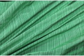 Striped Silk Dupion - Greens