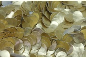 Leatherette Disc Sequin - Dull Gold