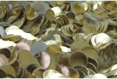 Leatherette Disc Sequin - Shiny Gold