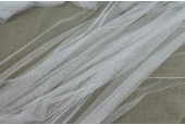 Soft Polyester Veiling Tulle - Ivory