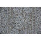 White Leavers lace with light cording and geometric floral pattern