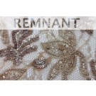 REMNANT: Beaded and Sequinned Lace in Coffee - 1.3m PIECE