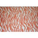 Coral Orange French Lace