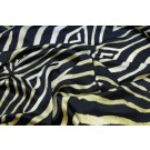 Silk Satin - Black and Yellow Zebra Print