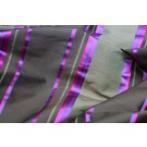 Satin Stripe Taffeta - Brown Khaki Blue Pink