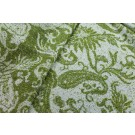 Wool Paisley - Green and Ivory