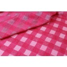Checked Semi Sheer Matka - Raspberry