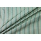 Wide Striped Silk Dupion - Pale Green and Cream