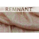 REMNANT: Micro Sequin On Silk Chiffon - Pink and Pale Green - 0.4m PIECE