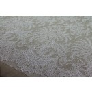 Scroll Border Chantilly - Ivory Single Scallop