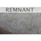 REMNANT: Scroll Border Chantilly - Ivory Single Scallop - WHOLE PIECE 1.25m