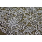 Guipure Lace - White Floral
