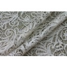 Ribbon Embroidery Mesh - Cream Silver
