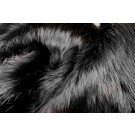 Faux Fur - Glossy Black Long Pile
