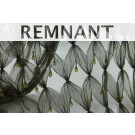 REMNANT: Green cut out tulle with teardrop crystal and bugle beads - 2.3m piece
