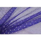 Silk Organza - Purple with Silver Spots