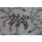 Black Silk Organza - Black Floral/Berry and Twig Design