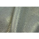Cream Wool Coating with Gold Foil