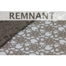REMNANT: Corded Lace - Mushroom - WHOLE PIECE 1m