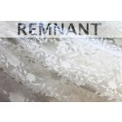 REMNANT: Flower and Vine Embroidered Tulle - Ivory - WHOLE PIECE 0.6m