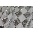 Harlequin Sequin On Tulle - Silver / White