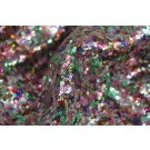 Multi Colour Micro Sequin - Greens / Pinks