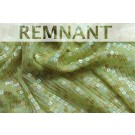 REMNANT: Small Square Sequin on Silk Chiffon - Golden green - 0.4m piece