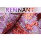 REMNANT - Iridescent Floral Brocade - Lilac/Coral - 0.6m piece